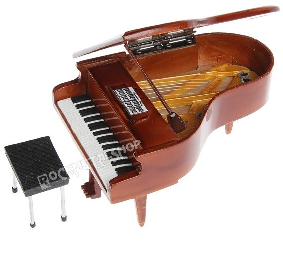 miniatura fortepianu BROWN WOOD z drewna