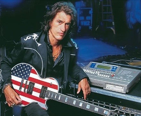 miniaturka gitary AEROSMITH - JOE PERRY: USA FLAG LES PAUL