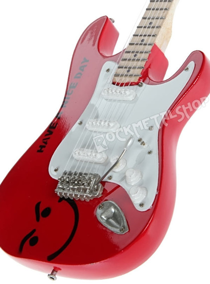 miniaturka gitary BON JOVI - STRATO RED TRIBUTE