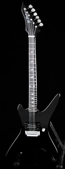 miniaturka gitary DEATH - CHUCK SCHULDINER: B.C. RICH STEALTH