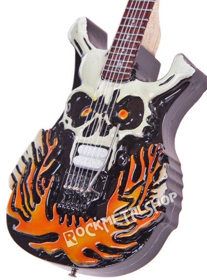 miniaturka gitary GEORGE LYNCH - ESP FLAMING SKULL