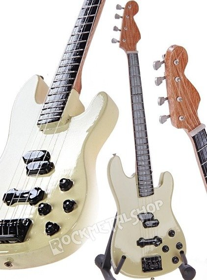 miniaturka gitary GUNS N'ROSES - DUFF MCKAGAN PRECISION BASS - PEARL WHITE
