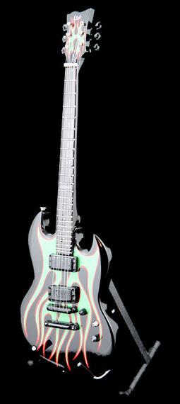 miniaturka gitary METALLICA -  JAMES HETFIELD: ESP LTD GRYNCH SIGNATURE