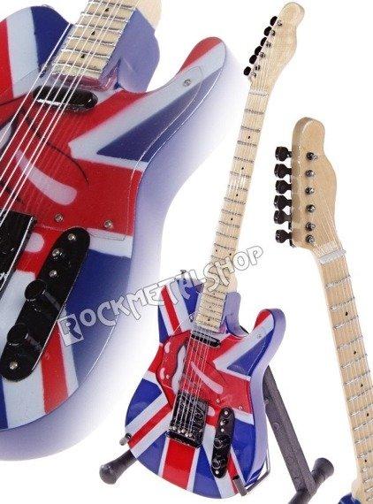 miniaturka gitary ROLLING STONES - KEITH RICHARD: UNION JACK TELEC.