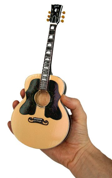 miniaturka gitary ROLLING STONES - RON WOOD: LIMITED ORNATE INLAY