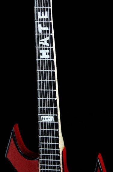 """miniaturka gitary SLIPKNOT - MICK THOMPSON: B.C. RICH WARLOCK """"HATE"""" RED"""