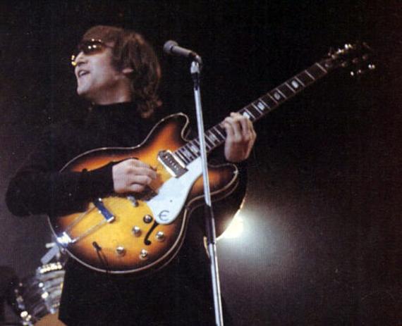 miniaturka gitary THE BEATLES - JOHN LENNON: EPIPHONE CASINO 1965