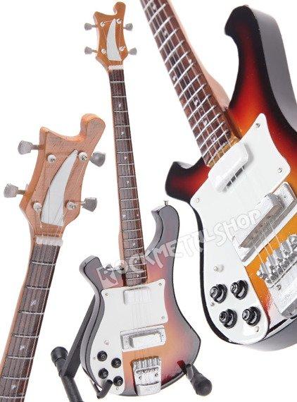 miniaturka gitary THE BEATLES - PAUL MCCARTNEY: RICKENBACKER BASS