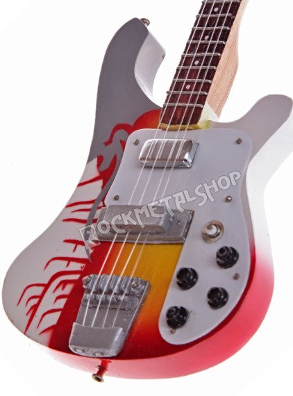 miniaturka gitary THE BEATLES - PAUL MCCARTNEY: RICKENBACKER PSYCHEDELIC BASS
