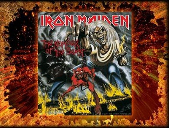 naklejka IRON MAIDEN - THE NUMBER OF THE BEAST