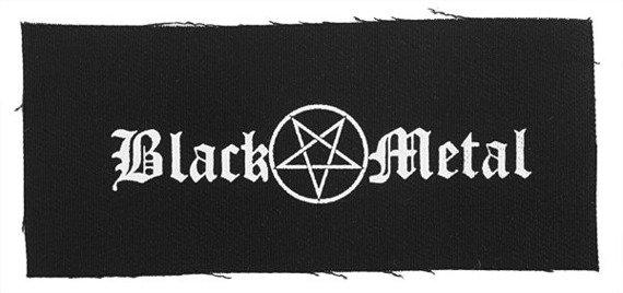 naszywka BLACK METAL/PENTAGRAM