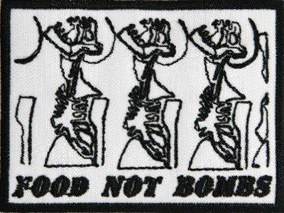 naszywka FOOD NOT BOMBS