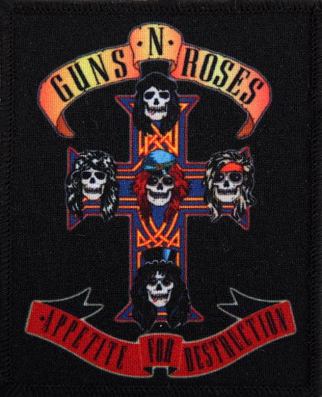 naszywka GUNS N' ROSES - APPETITE FOR DESTRUCTION