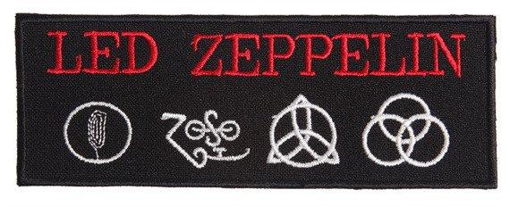naszywka LED ZEPPELIN - LOGO RED WHITE