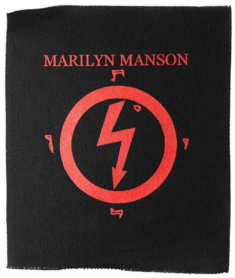 naszywka MARILYN MANSON RED