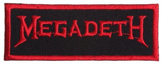 naszywka MEGADETH - LOGO RED