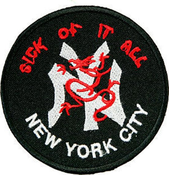 naszywka SICK OF IT ALL - NEW YORK CITY