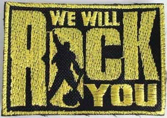 naszywka WE WILL ROCK YOU