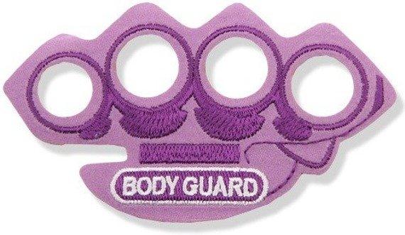 naszywka termiczna BODY GUARD RED KNUCKLE DUSTER purple (EP.508)