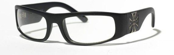 okulary WEST COAST CHOPPERS - ORIGINAL CROSS CLEAR LENSES