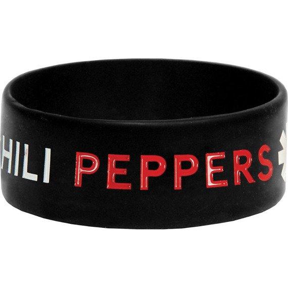 opaska RED HOT CHILI PEPPERS - BLACK, silikonowa