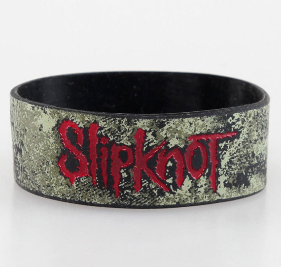 opaska SLIPKNOT - DISTRESSED LOGO, silikonowa