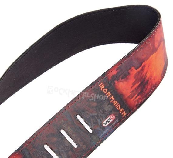 pas do gitary IRON MAIDEN - VIRTUAL XI skórzany, 63mm