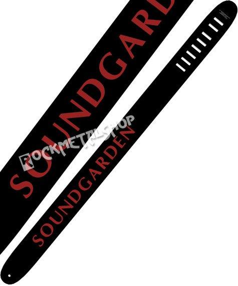 pas do gitary SOUNDGARDEN - BLACK skórzany, 63mm