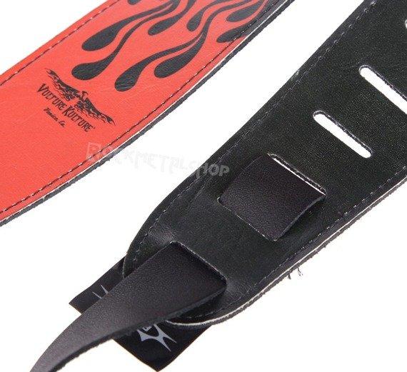 pas do gitary VULTURE KULTURE - CADUCEUS skórzany, 63mm