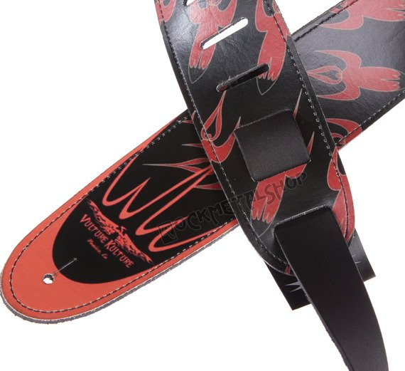pas do gitary VULTURE KULTURE - RED ROCKETS skórzany, 63mm