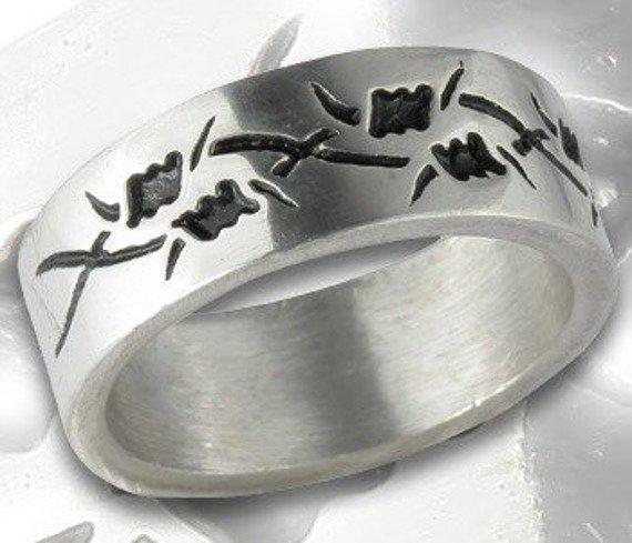 pierścień BARBED WIRE