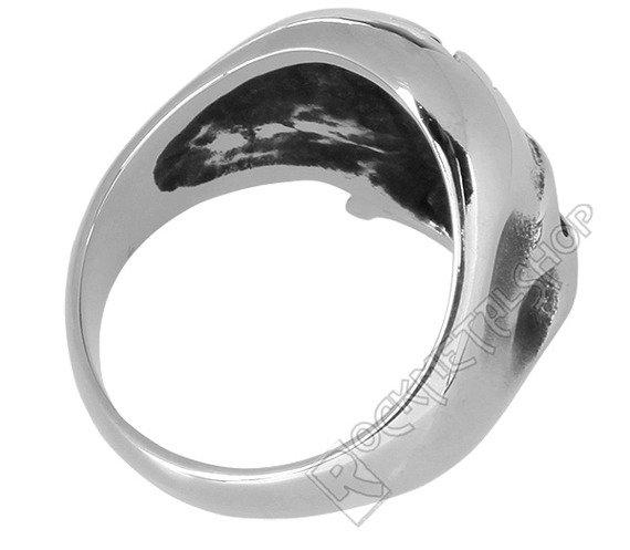 pierścień IRON CROSS SKULL