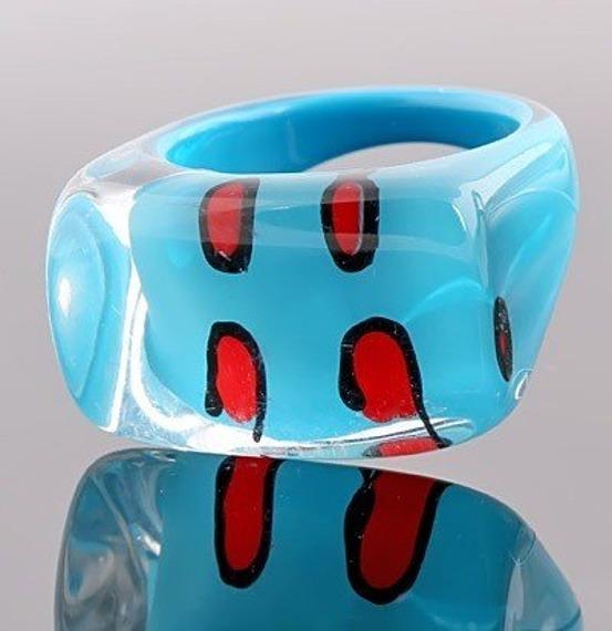 pierścień PATCHES niebieski