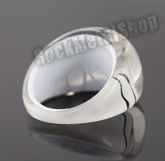 pierścień PATTERN biały