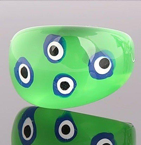 pierścień ROUND PATCHES zielony