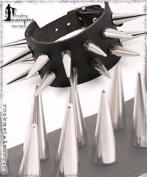 pieszczocha 2-rzędowa z ćwiekami CONE MEDIUM [LWZA-070]