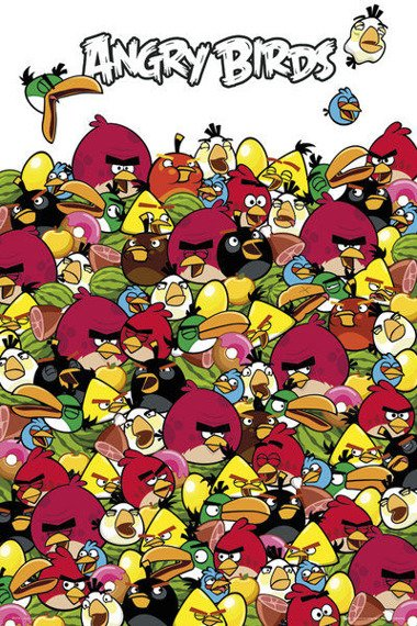 plakat ANGRY BIRDS - PILE UP