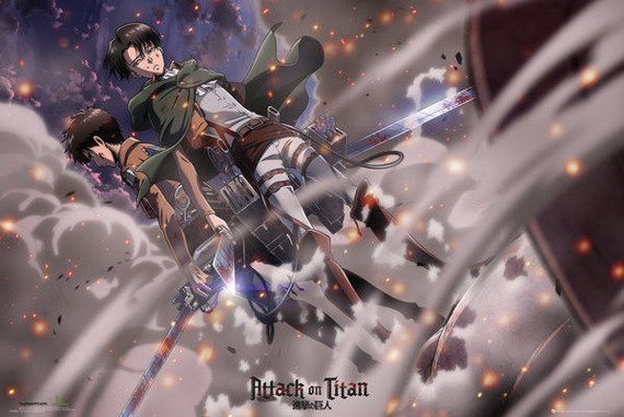 plakat ATTACK ON TITAN - BATTLE