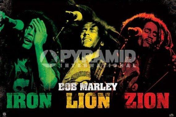 plakat BOB MARLEY - IRON LION ZION