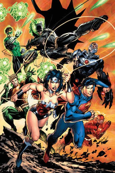 plakat DC COMICS - JUSTICE LEAGUE CHARGE
