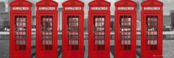 plakat LONDON - PHONEBOXES