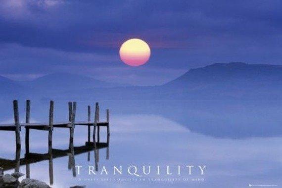 plakat MOTIVATIONAL - TRANQUILLITY