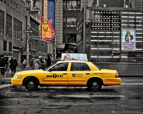 plakat NEW YORK - 7TH AVENUE TAXI