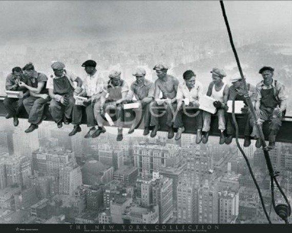 plakat NEW YORK - MEN ON GIRDER