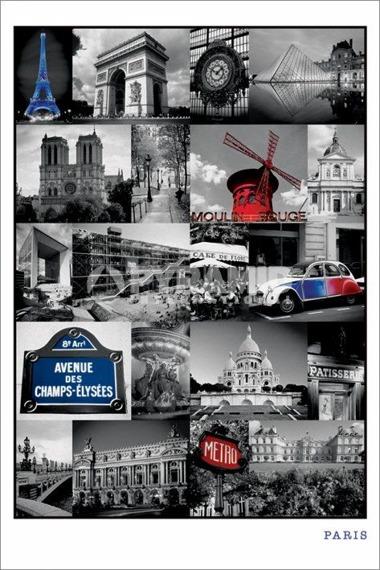 plakat PARIS - COLLAGE