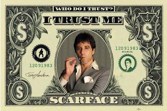 plakat SCARFACE - DOLLAR BILL