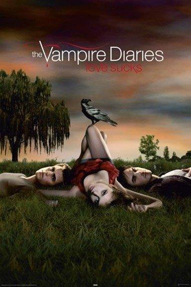 plakat VAMPIRE DIARES - LOVE SUCKS