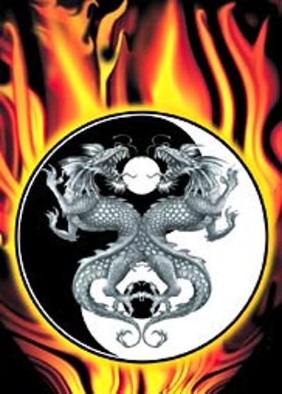 plakat YIN-YANG DRAGONS