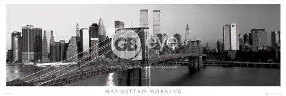 plakat panoramiczny NEW YORK - MANHATTAN MORNING