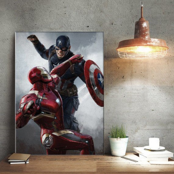 plakat z metalu MARVEL - CIVIL WAR - DUEL